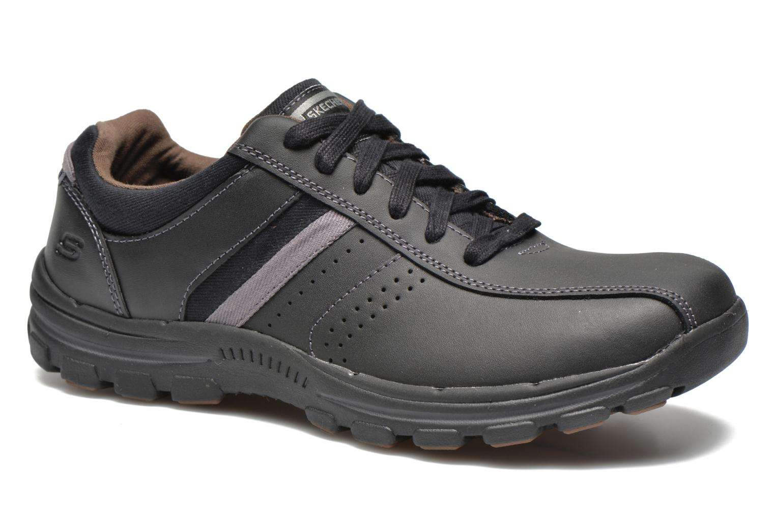 Trainers Skechers Braver Alfano 64529 Black detailed view/ Pair view