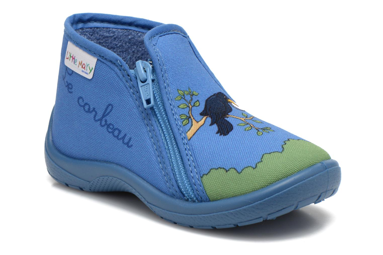 Chaussons Little Mary Zecorbeau Bleu vue détail/paire