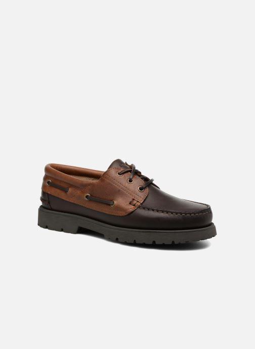 Zapatos con cordones Aigle Tarmac Marrón vista de detalle / par