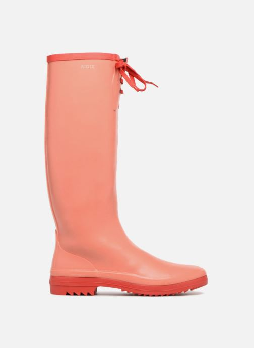 Støvler & gummistøvler Aigle Miss Marion Orange se bagfra