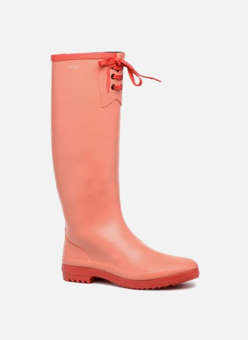 Støvler & gummistøvler Aigle Miss Marion Orange detaljeret billede af skoene