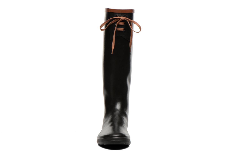 Bottes Aigle Miss Marion Noir vue portées chaussures