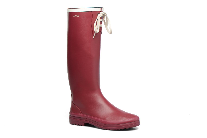 Støvler & gummistøvler Aigle Miss Marion Rød detaljeret billede af skoene