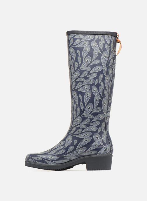 Boots & wellies Aigle Miss Juliette Print Blue front view