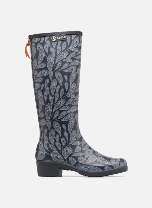 Boots & wellies Aigle Miss Juliette Print Blue back view