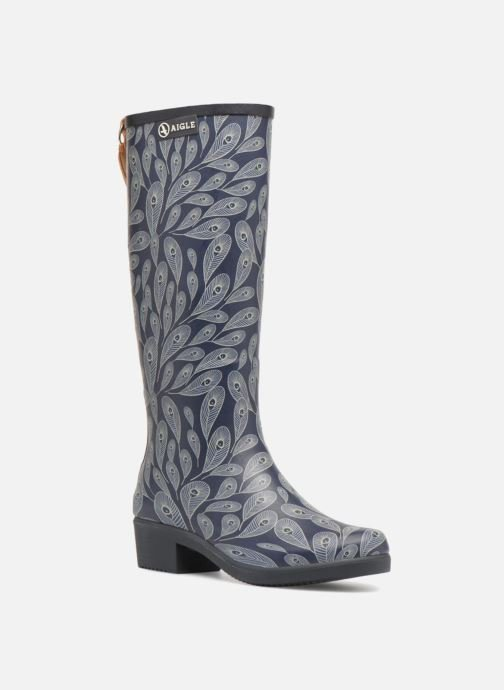 Boots & wellies Aigle Miss Juliette Print Blue detailed view/ Pair view