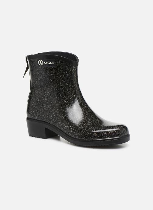 Bottines et boots Aigle Miss Juliette Bottillon Print Noir vue détail/paire