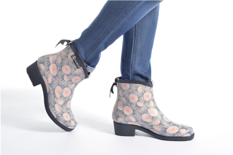 Bottines et boots Aigle Miss Juliette Bottillon Print Multicolore vue bas / vue portée sac
