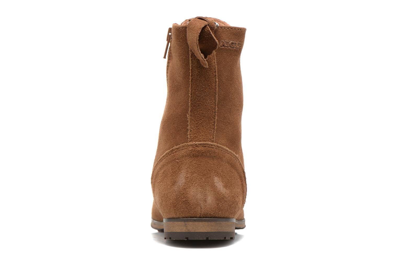 Bottines et boots Aigle Melven Marron vue droite