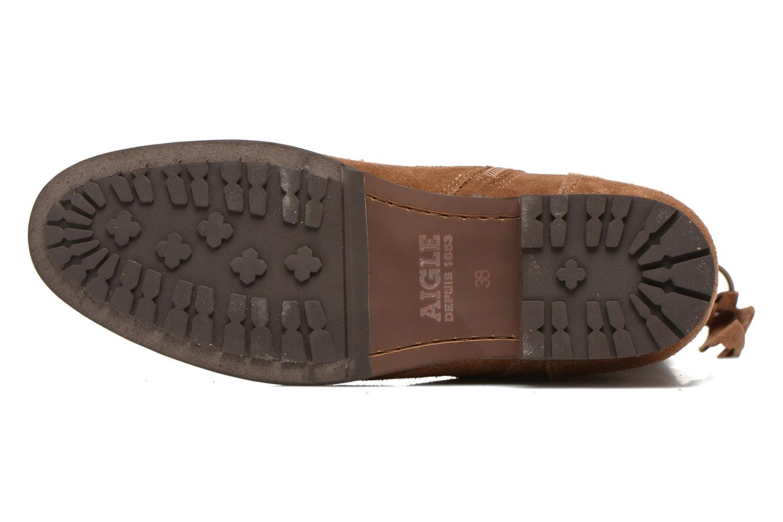 Bottines et boots Aigle Melven Marron vue haut