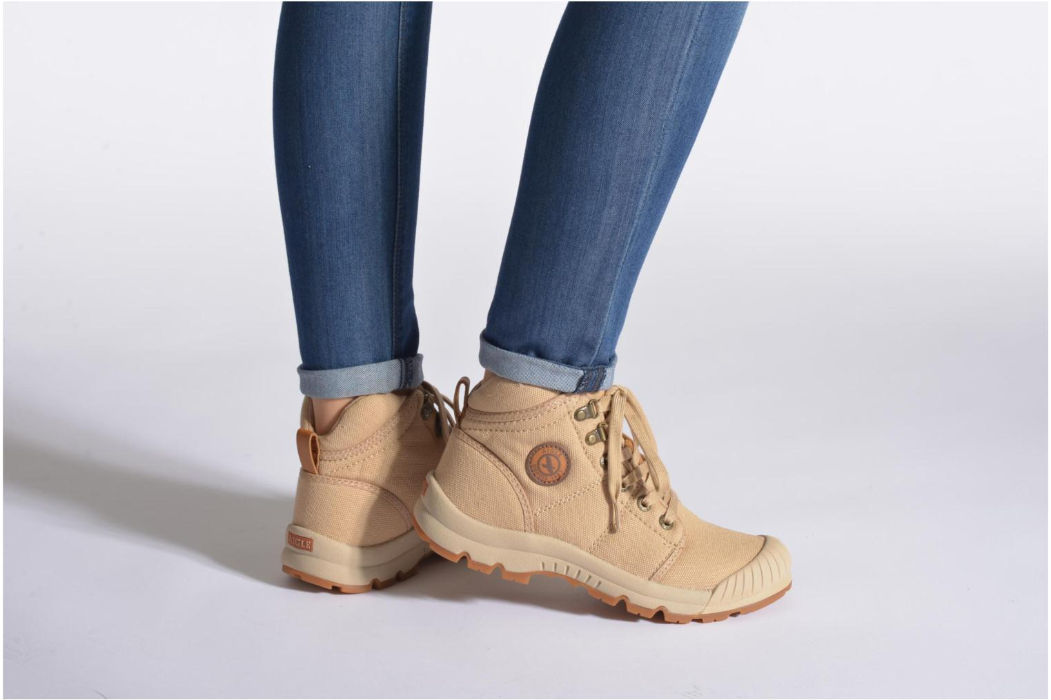 Trainers Aigle Tenere Light WP W Beige view from underneath / model view