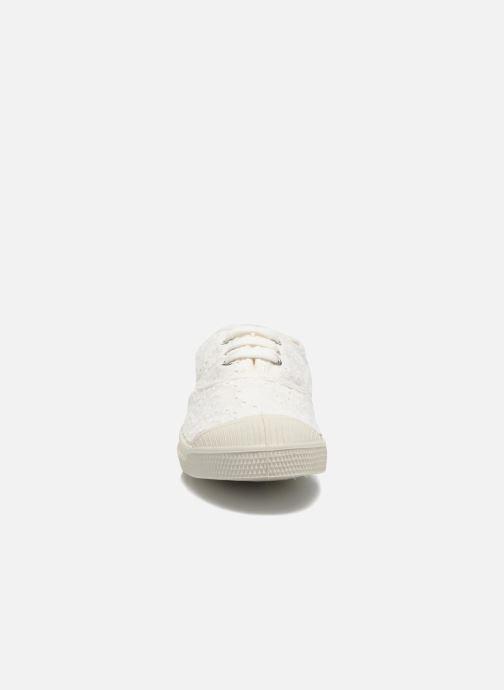 Sneakers Bensimon Tennis Broderie Anglaise E Bianco modello indossato