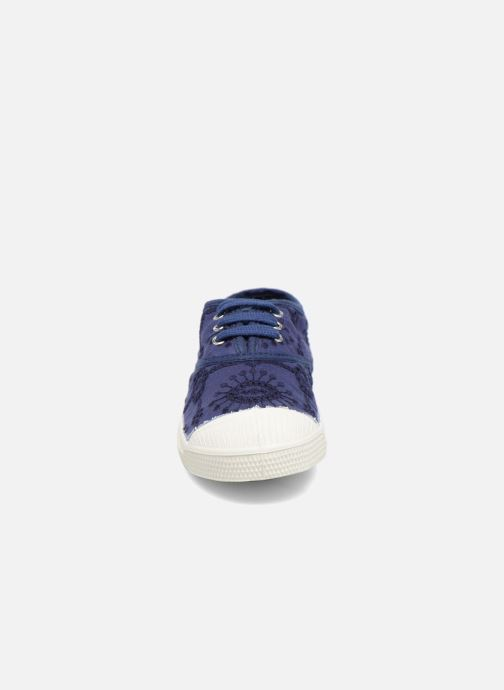Trainers Bensimon Tennis Broderie Anglaise E Blue model view