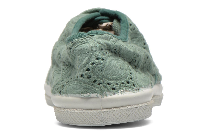 Sneakers Bensimon Tennis Broderie Anglaise E Groen rechts