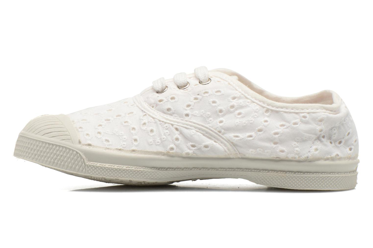Sneakers Bensimon Tennis Broderie Anglaise E Wit voorkant