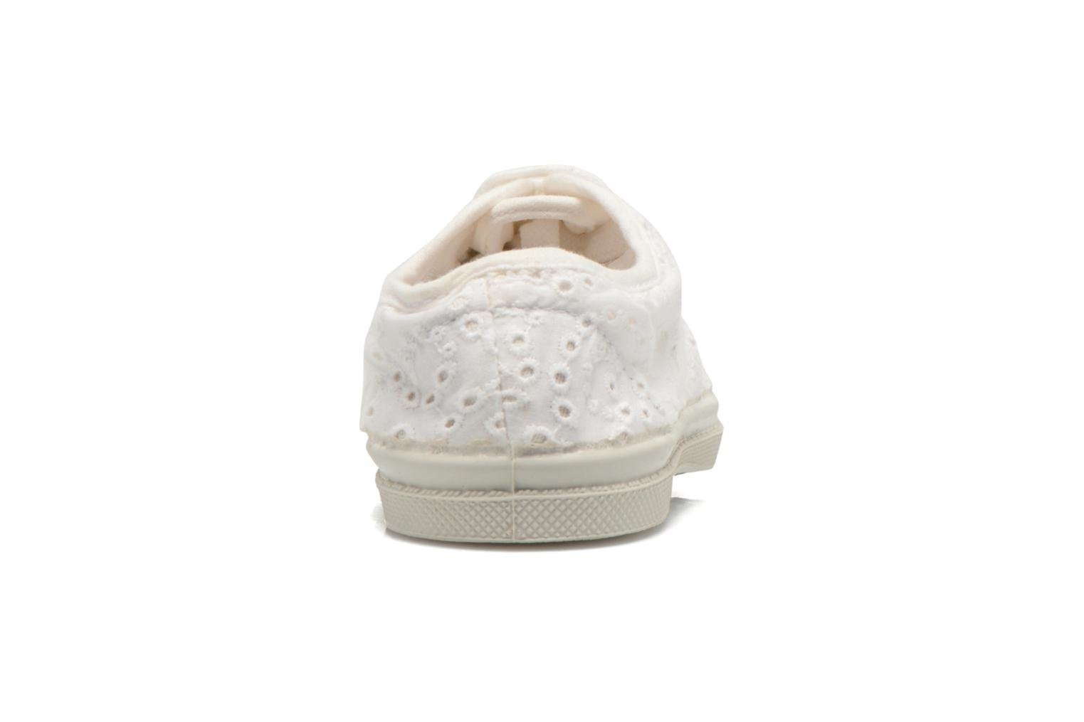 Trainers Bensimon Tennis Broderie Anglaise E White view from the right