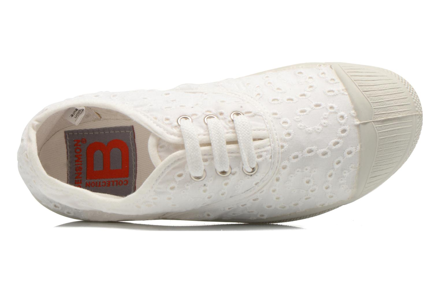 Sneakers Bensimon Tennis Broderie Anglaise E Wit links