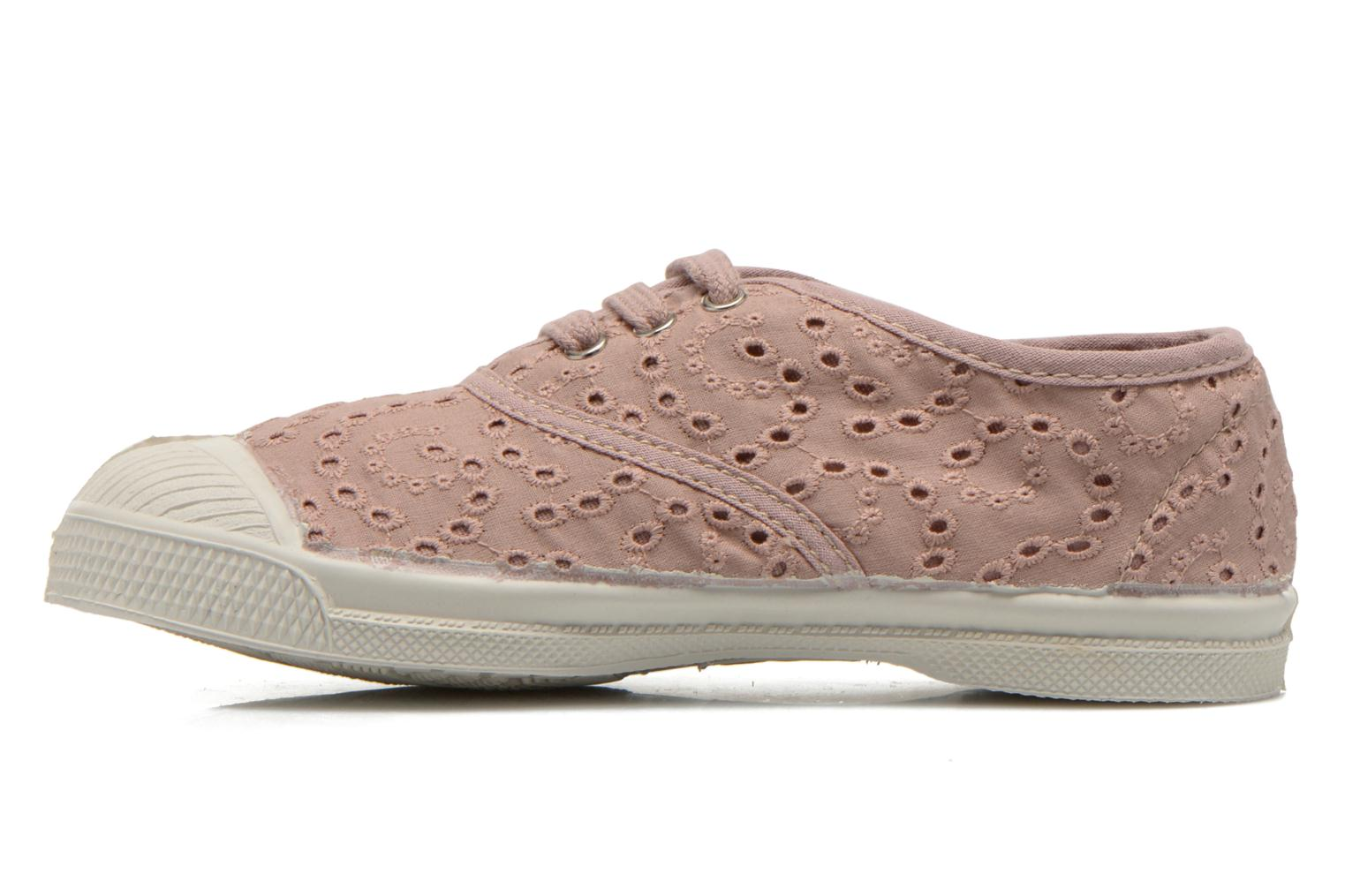 Trainers Bensimon Tennis Broderie Anglaise E Pink front view