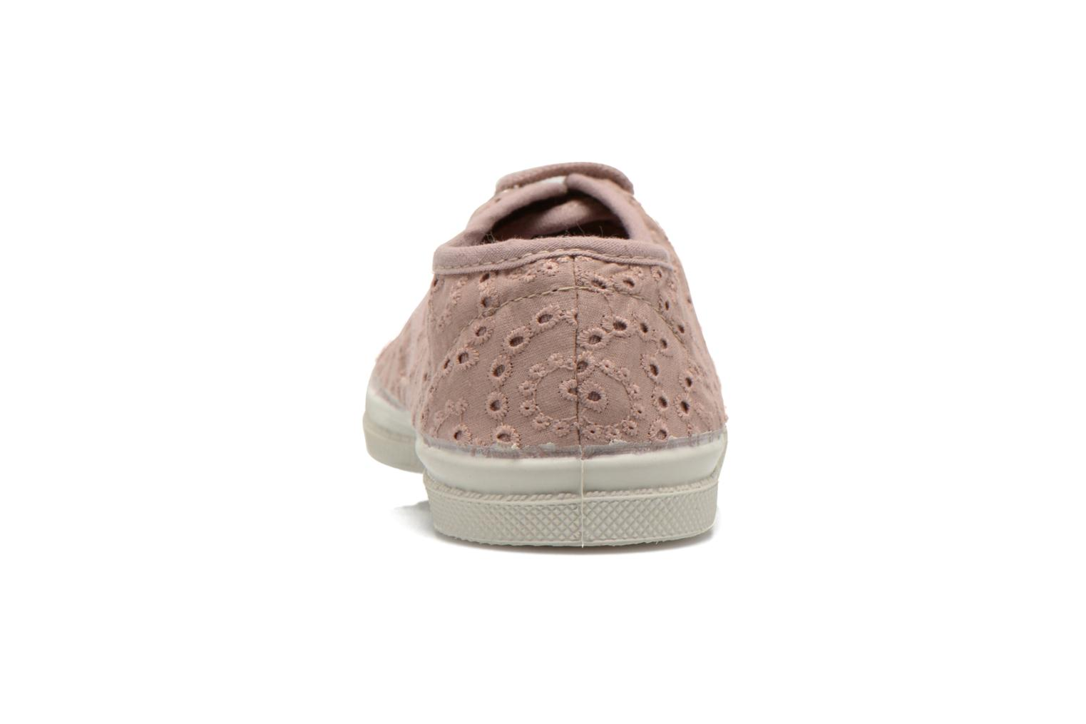 Trainers Bensimon Tennis Broderie Anglaise E Pink view from the right