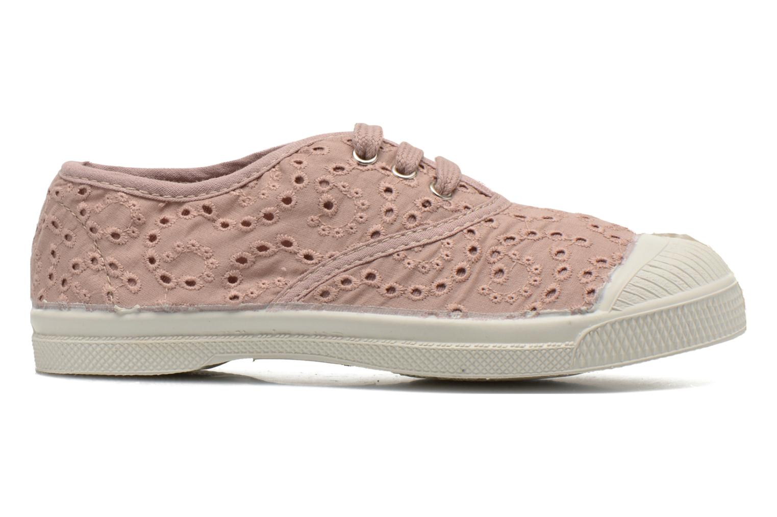 Trainers Bensimon Tennis Broderie Anglaise E Pink back view