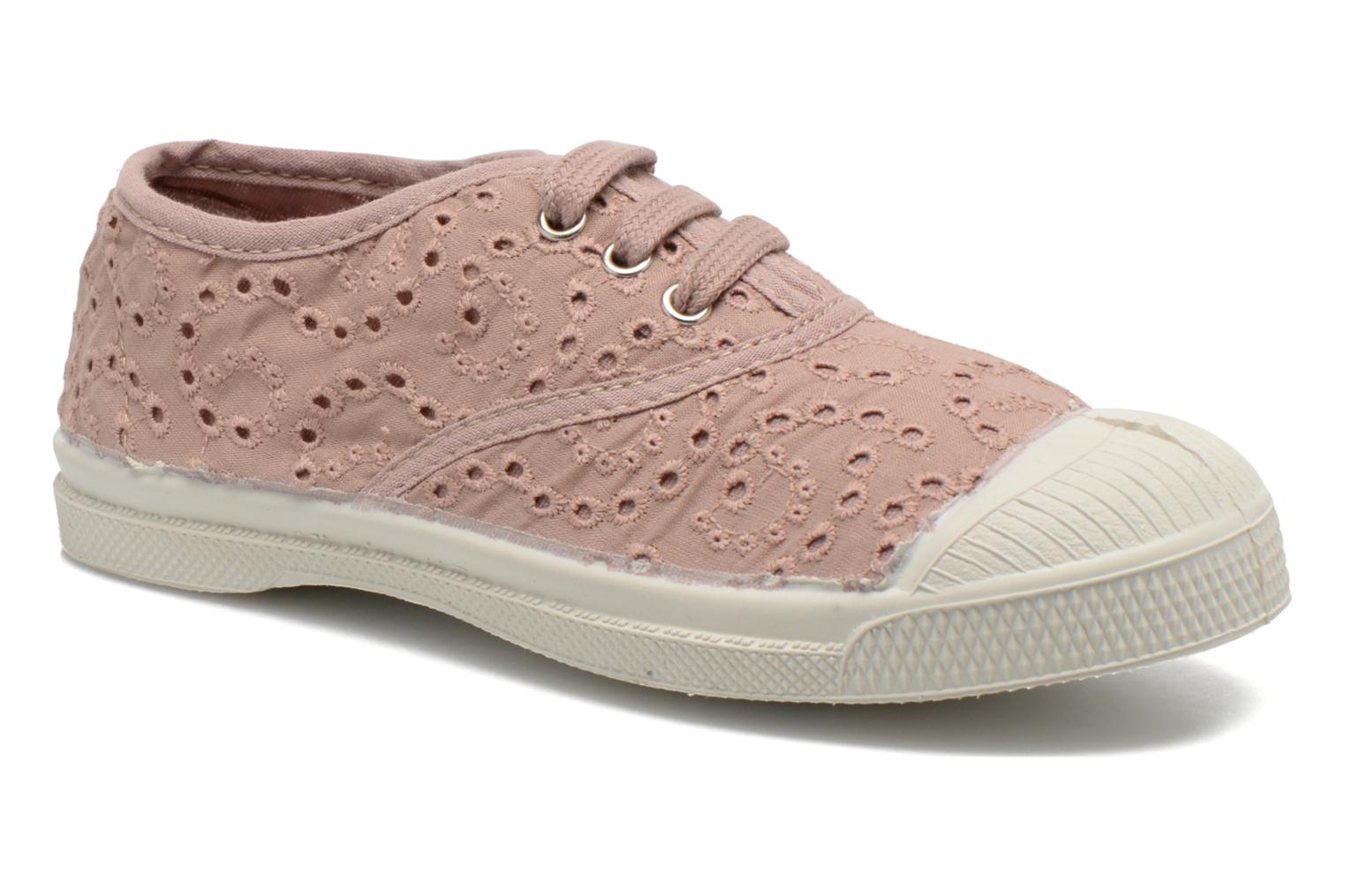 Trainers Bensimon Tennis Broderie Anglaise E Pink detailed view/ Pair view