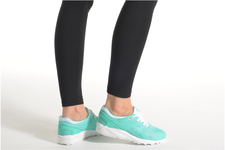 Sneaker Asics Gel-Kayano Trainer Evo W grün ansicht von unten / tasche getragen