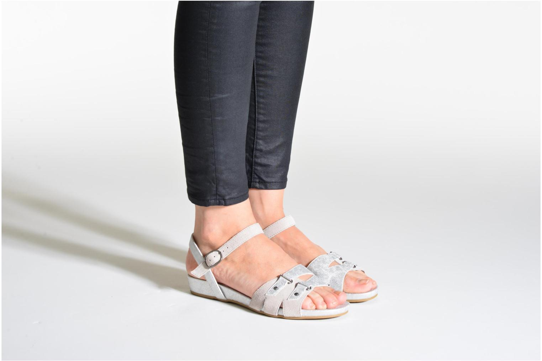 Sandales et nu-pieds Madison Emora Argent vue bas / vue portée sac
