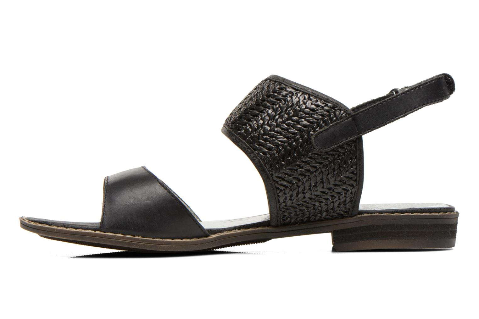 Sandals Madison Rubane Black front view