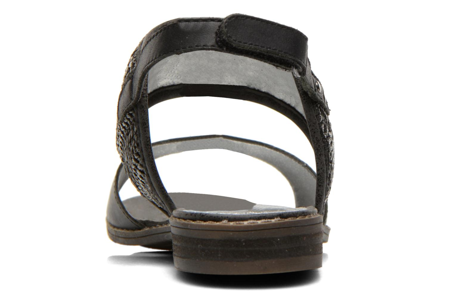 Sandals Madison Rubane Black view from the right
