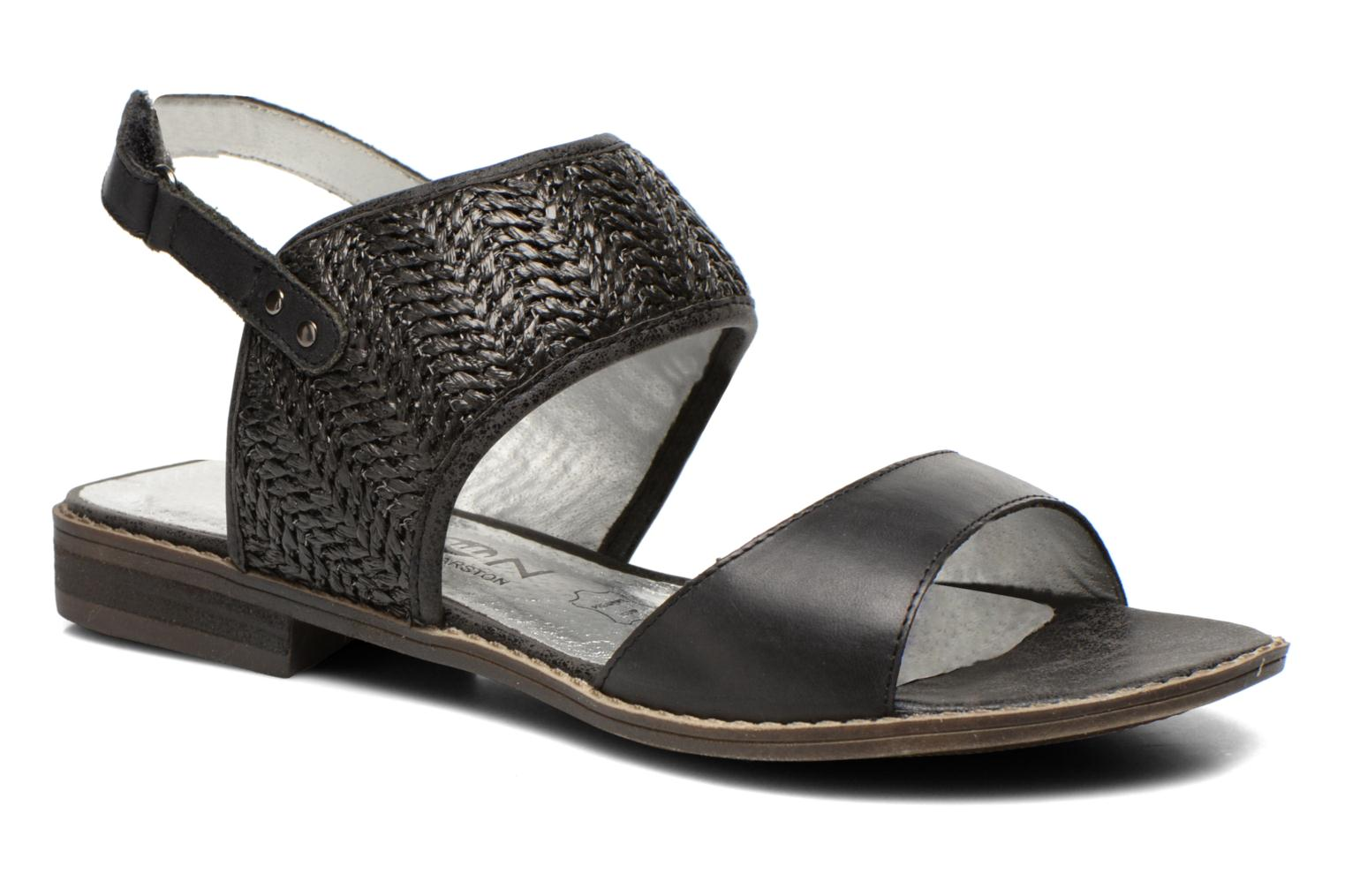 Sandals Madison Rubane Black detailed view/ Pair view