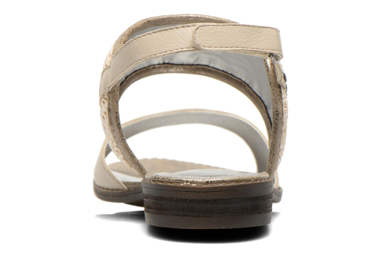 Sandales et nu-pieds Madison Rubane Blanc vue droite