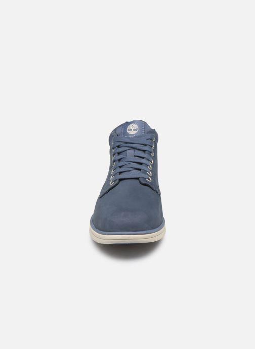 Baskets Timberland Bradstreet Chukka Leather Bleu vue portées chaussures