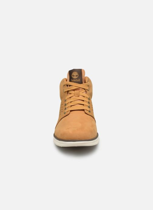 Baskets Timberland Bradstreet Half Cab Beige vue portées chaussures