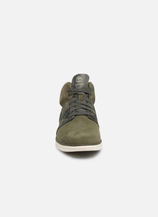 Baskets Timberland Bradstreet Half Cab Vert vue portées chaussures