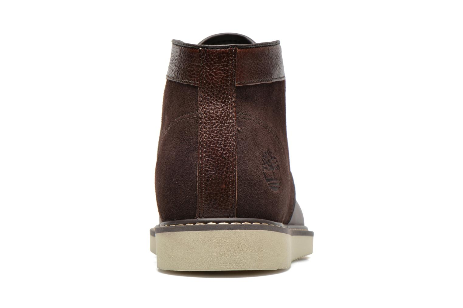 Lace-up shoes Timberland Newmarket Chukka Brown view from the right