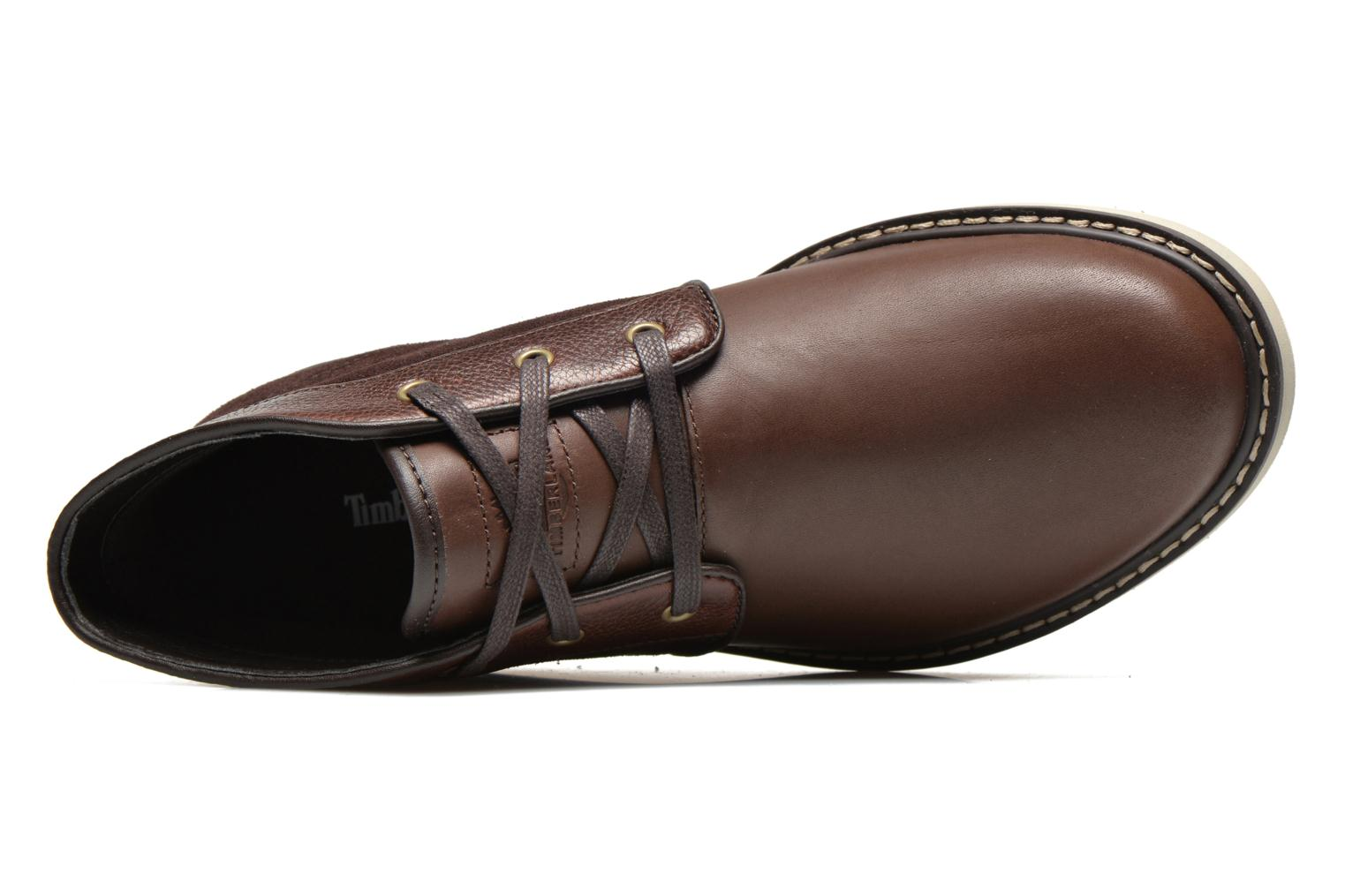 Lace-up shoes Timberland Newmarket Chukka Brown view from the left