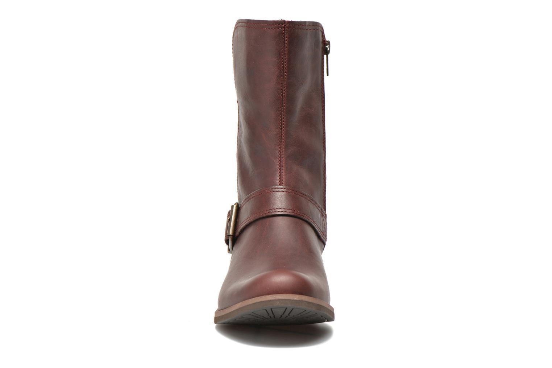 Bottines et boots Timberland Savin Hill Mid Zip Bordeaux vue portées chaussures