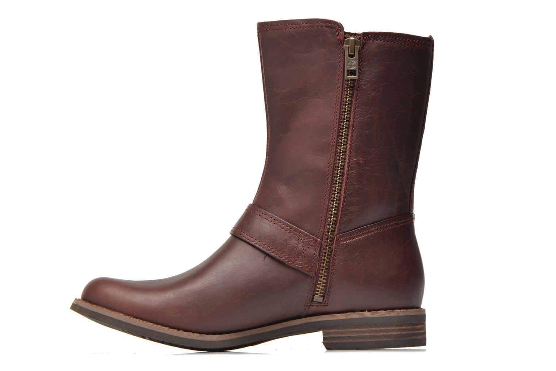 Bottines et boots Timberland Savin Hill Mid Zip Bordeaux vue face