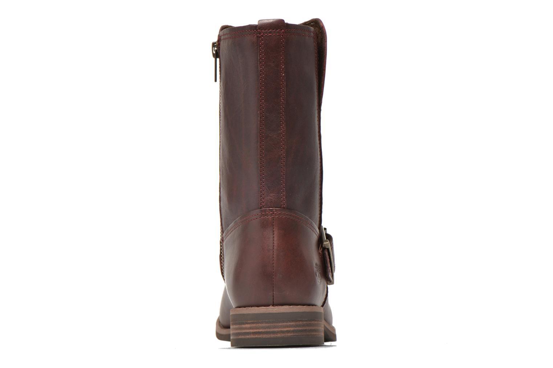 Bottines et boots Timberland Savin Hill Mid Zip Bordeaux vue droite