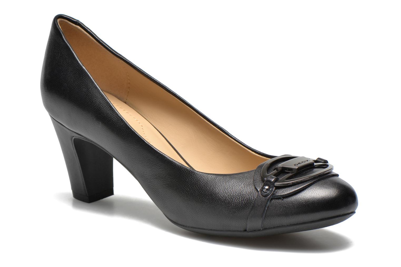 High heels Geox D Mariele Mid B D44T7B Black detailed view/ Pair view