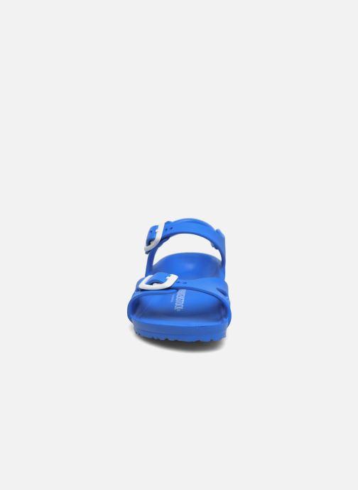 Sandalen Birkenstock Rio EVA blau schuhe getragen