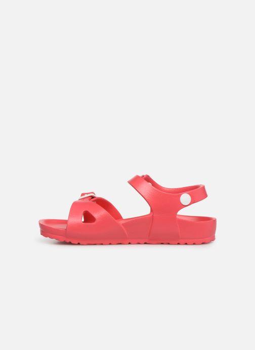 Sandalen Birkenstock Rio EVA rosa ansicht von vorne