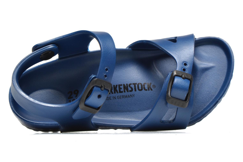 Sandalias Birkenstock Rio EVA Azul vista lateral izquierda