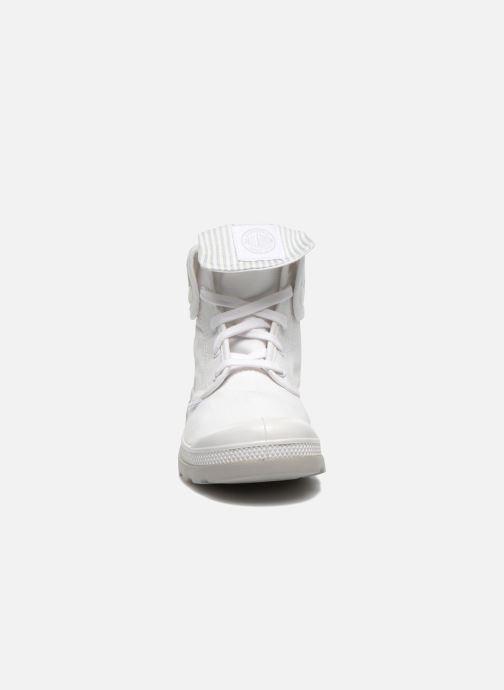 Baskets Palladium Baggy lite kid Blanc vue portées chaussures