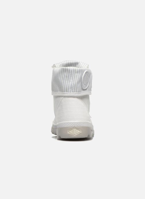 Baskets Palladium Baggy lite kid Blanc vue droite