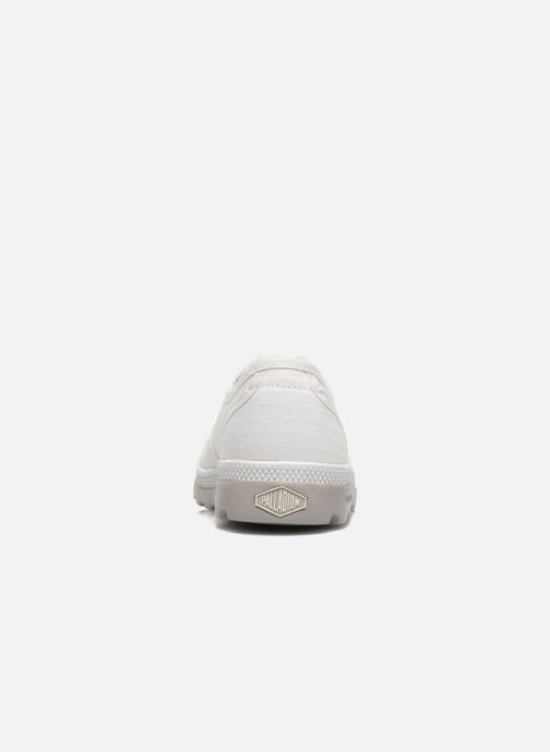 Deportivas Palladium Oxford lite kid Blanco vista lateral derecha