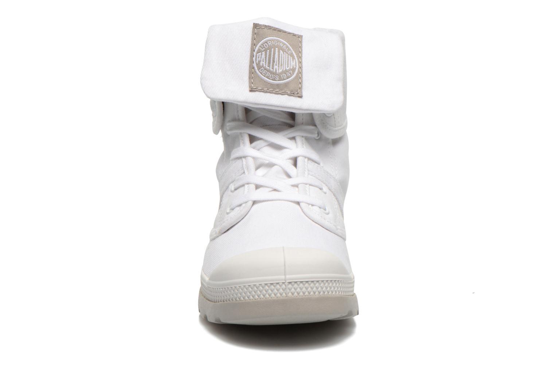 Baskets Palladium Baggy lit spo k Blanc vue portées chaussures