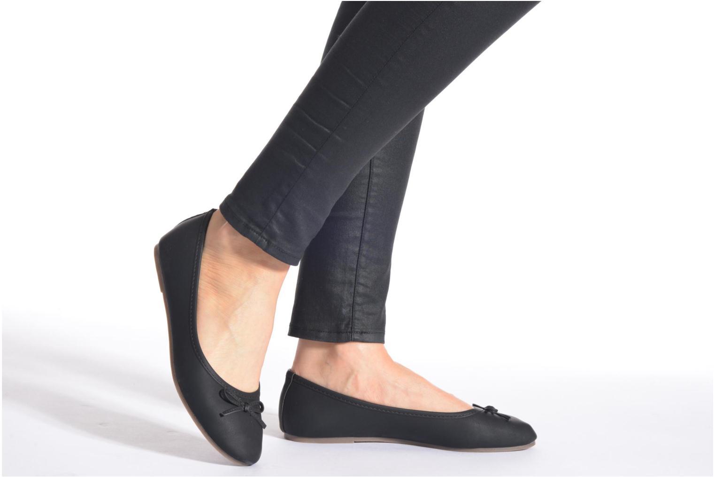 Ballerines I Love Shoes Suflatine Noir vue bas / vue portée sac