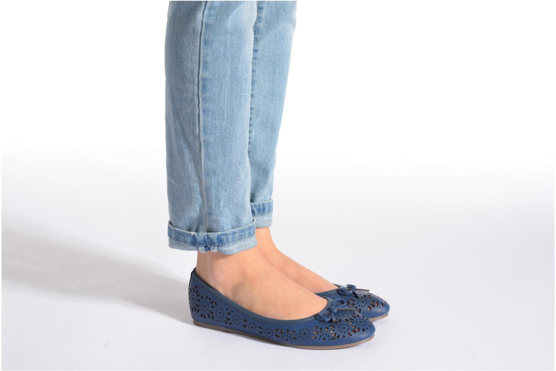 Ballerines I Love Shoes Suflatou Bleu vue bas / vue portée sac