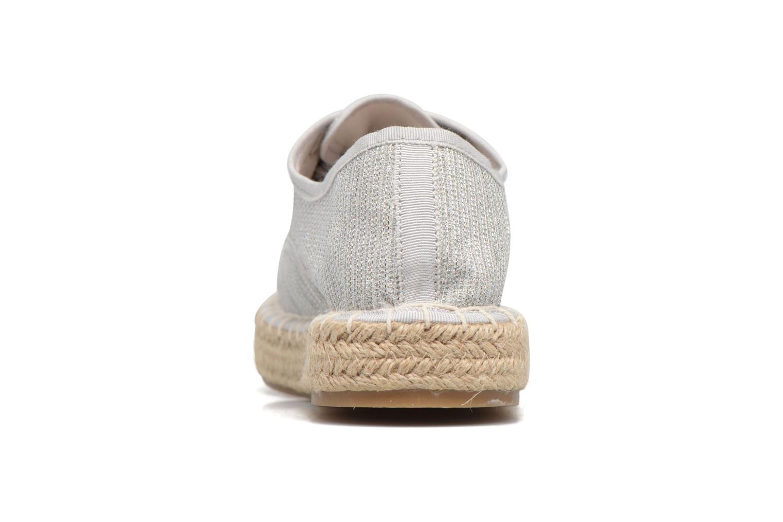 Alpargatas I Love Shoes Surmino Plateado vista lateral derecha